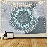 Mandala Tapestry Floral Bohemian Tapestry Indian Hippie Flower Tapestries Psychedelic Tapestry Wall Hanging for Living Room Bedroom(51.2 x 59.1 inches)