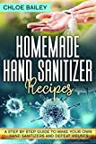 Homemade Hand Sanitizer: A Step By Step Guide to Make Your Own Hand Sanitizers and Stay Healthy (English Edition)