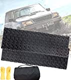 TARKII Tire Traction Mats, Two 31.4 Inch Portable Emergency Caterpillar Bands to Get Your Vehicles Unstuck in Snow, Mud and Sand
