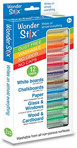 Wonder Stix Pastel Colors Dustless Chalk Crayon 12 pack