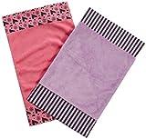 One Grace Place Sassy Shaylee Burp - Paño de cocina, color negro, rosa y morado