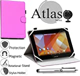 Navitech stilvolles rotierbares 10 Zoll Stand Hülle Cover Hülle in Lila mit Stylus Pen für das Odys Lux 10 Tablet-PC