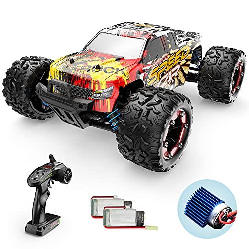 Ferngesteuertes Auto, DEERC 4WD Offroad RC Auto 40 km/h 1:18 Geländewagen , 2 Akku Lange Laufzeit 2.4-GHz Fernbedienung , Outdoor Indoor Fahrzeug Spielzeug für Erwachsene und Kinder (9310)