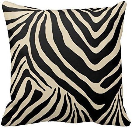 Amazon Com Black And Beige Zebra Stripes Pattern Design Throw Pillow Cover Case Home Decorative Square 20x20 Inches Home Kitchen