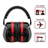 Noise Reduction Ear Muffs Noise Cancelling Hunting Shooting Ear Hearing Protection Earphone Headphone for Kids NRR 25DB/SNR 29DB (Red & Black)