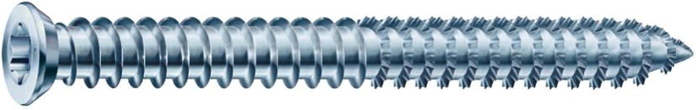SPAX 1021010750605 RA framelankers 7.5x 60 verzonken kop Torx30 verzinkt voor deuvelloze schroefverbinding 100 stuks, blauw