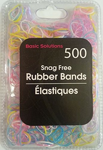500 Pack Rubber Bands - Snag Free (BOLD) Color: Bold Multi-Color Model: Office Supply Product Store