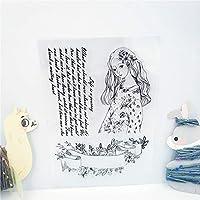 卸売透明クリアスタンプファッションガールシリコーンシールローラースタンプdiyスクラップブッキングフォトアルバム/カード作成