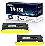Compatible 2 Pack Black TN-350 TN350 Toner Cartridge Replacement for Brother DCP-7010 DCP-7020 DCP-7025;MFC-7225 7820 7420 ;HL-2040 2040N 2070N 2030 2040;IntelliFax 2910 2920 Printers.