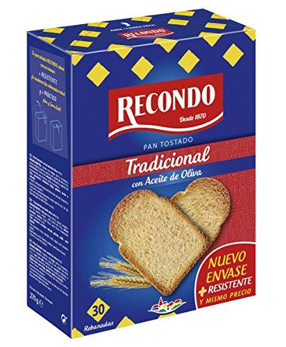 Recondo Pan Tostado Tradicional con aceite de oliva, 30 rebanadas,