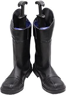 Cat Noir Adrien Agreste Black Halloween Cosplay Shoes Boots X002