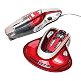 Ewbank 2-in-1 Vacuum Cleaner, Bed Beater & Fabric Sanitizer, Red/Black