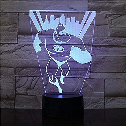 Lampa z iluzją 3D prezent LED biurko lampa stołowa zła święta przesyłka stół biurko dekoracja zmieniająca pokój gier dekoracja idealne prezenty urodziny z ładowaniem USB, zmiana koloru
