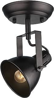 LALUZ Semi Flush Mount Adjustable 1 Head Track Lighting Fixture Modern Ceiling Spotlight, A03200