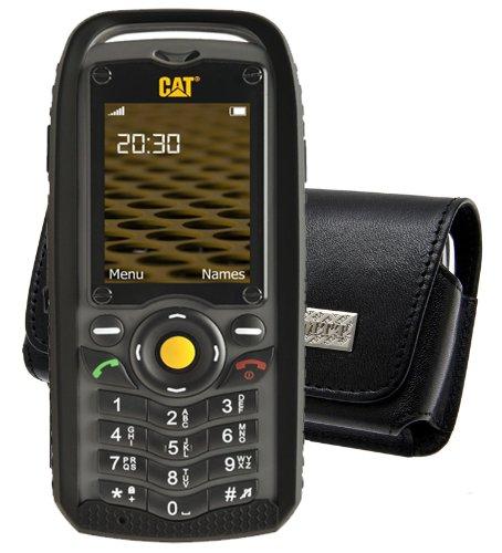 Original MTT Quertasche für / Caterpillar CAT B25 Outdoor / Horizontal Tasche Ledertasche Handytasche Etui mit Clip & Sicherheitsschlaufe*