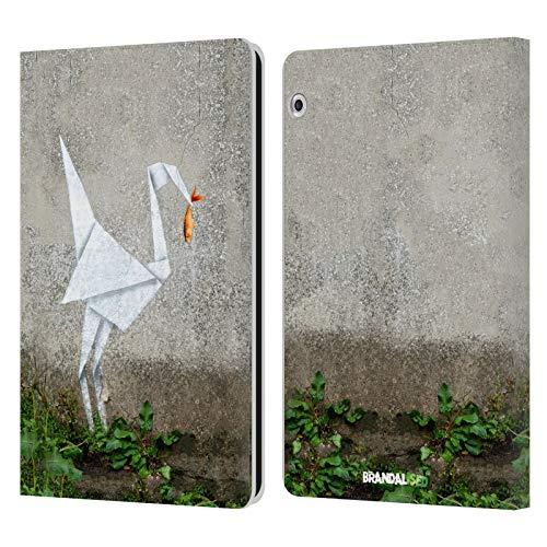 Officiële Brandalised Origami Vogel Straat Graphics Lederen Book Portemonnee Cover Compatibel voor Huawei MediaPad T3 10