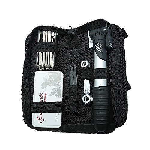 Fahrradwerkzeug-Kit, 16 in 1 Multifunktions-Fahrradwerkzeug-Reparatursatz mit 120 PSI-Pumpenreifenhebeln, Mountainbike-Reparaturwerkzeugset mit Storge-Tasche für Rennrad, Faltrad, Kinderfahrrad, usw.