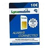 Tarjeta SIM de Lycamobile 5€ + 5 (10€ en Total) | ACTIVACIÓN BIOMÉTRICA (con Selfie + DNI, NIE O Pasaporte)