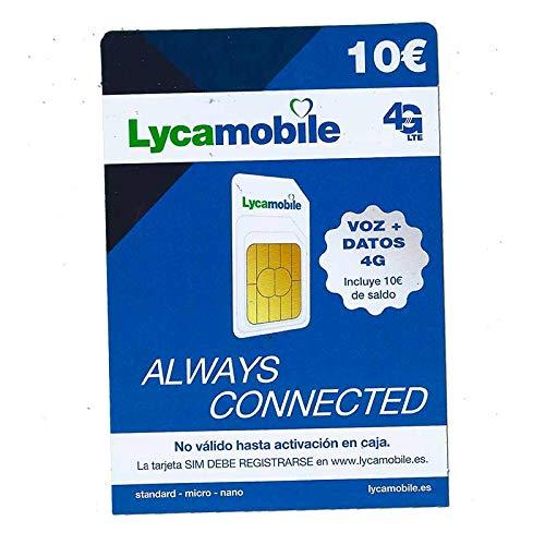 Lycamobile simkaart € 5 + € (totaal) | Alleen voor gebruik in Spanje | vereist ID-kaart, NIE of pas om te activeren
