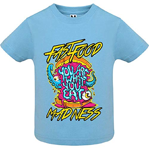 LookMyKase T-Shirt - You are What You Eat - Bébé Garçon - Bleu - 2ans