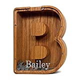 Wooden Piggy Bank, Personalized...