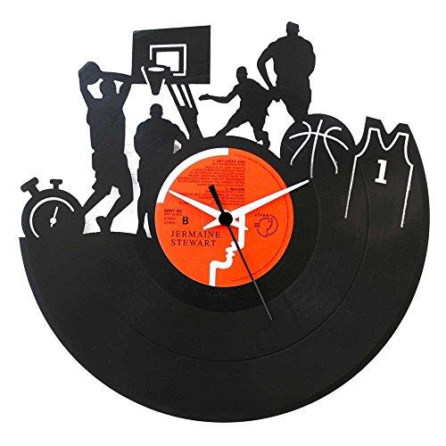 Basket NBA regalo especial, Reloj negro de vinilo, original Vinyluse