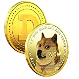 Must-Have For Dogecoin Fans—This Dogecoin proudly showcases your successful joining of the life-changing Blockchain revolution! The gold dogecoin coin will make a modern, stylish addition to the collection of every inspired investor in cryptocurrency...