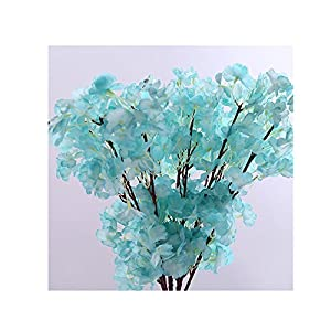 Binglinghua Artificial Cherry Blossom Branches Flowers Silk Peach Flowers Arrangements for Home Wedding Decoration