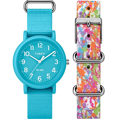 Timex Unisex TWG018300 Weekender Color Rush Blue/Splash Box Set