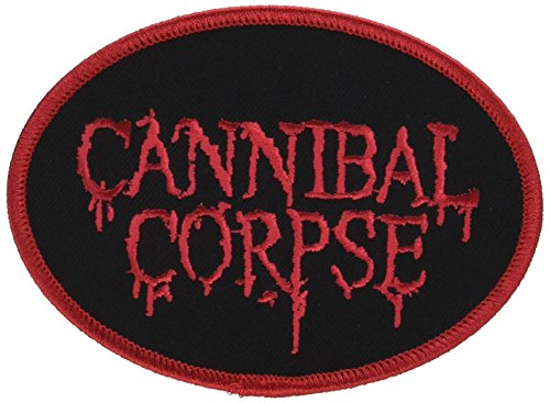 """CANNIBAL CORPSE LOGO, Officially Licensed Original Artwork, High Quality Iron-On/Sew-On, 4.25"""" x 3"""" Embroidered PATCH Flicken"""