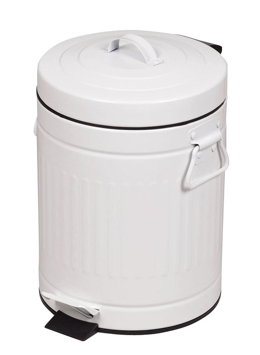 印刷する億うねるパール金属 ゴミ箱 ふた付き ペダル ペール 5L クラウス ホワイト HB-2217