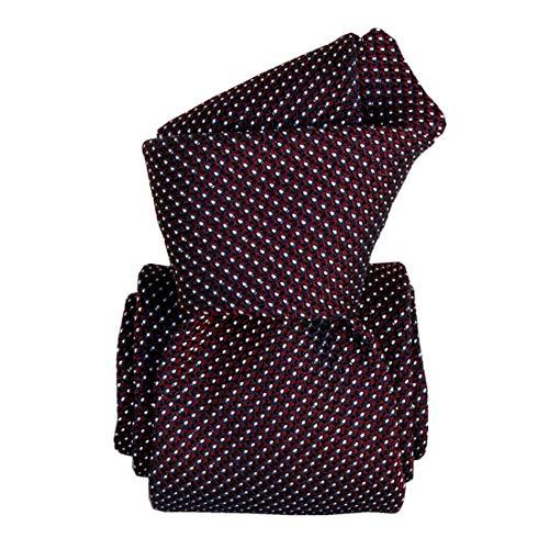 Segni et Disegni. Cravate grenadine. Paris IV, Soie. Rouge, Uni. Fabriqué en Italie.