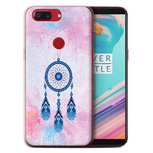 Stuff4® beschermhoes/cover/behuizing/gel/TPU/protetetiva bedrukt met kleurrijk design voor OnePlus 5T - oogschaduw/blauw/dromen