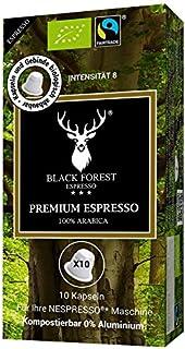 100% Kompostierbare, recyclebare, kompatible Bio Kapseln 60 Stück. Black Forest Premium Espresso. Kompatibel für Nespresso Maschinen. 0% Aluminium. Grundpreis Kaffeepulver pro 100g: 8,98€