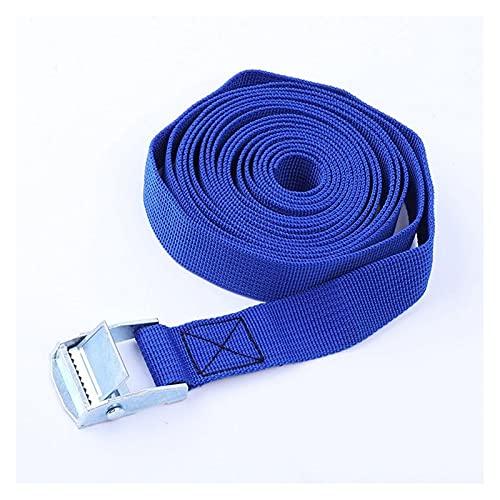 HMBJFBD 2m Auto Tension Rope Bilancio Fisso Cinturino Cargo Roof Crep Cinghie di Animatura Cinghie a cricchetto Fibbia Cinghia Fibbia Poso Cintura a cricchetto (Color : Blue)