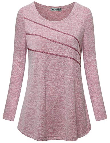 MISS FORTUNE Women Workout Shirts Plus Size Long Sleeve Sport T Shirt...