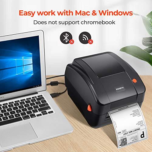 MUNBYN-Impresora de Etiquetas de Envío USB de 300 dpi Compatible con Amazon Ebay Paypal Etsy Shopify ShipStation UPS USPS FedEx DHL Impresión térmica Directa para Windows y Mac