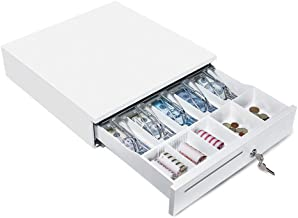 """MUNBYN White Cash Register Drawer Box, 16"""" Wide for Point of Sale (POS) System.."""