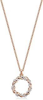 Mestige Women Glass Rose Gold Spiral Necklace with Swarovski Crystals