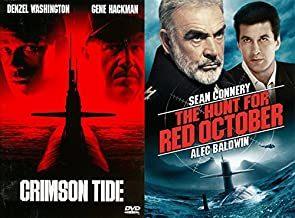 COLD WAR Military Thriller Films: Crimson Tide + The Hunt For Red October Russian Spy Submarine Collection Two Favorites pack DVD