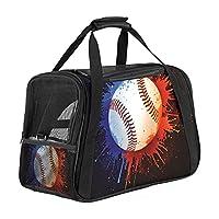 ペットキャリーバッグソフトサイド野球ボールカラースプラッシュ 小動物、犬、猫、子猫、子犬のためのトラベルトート