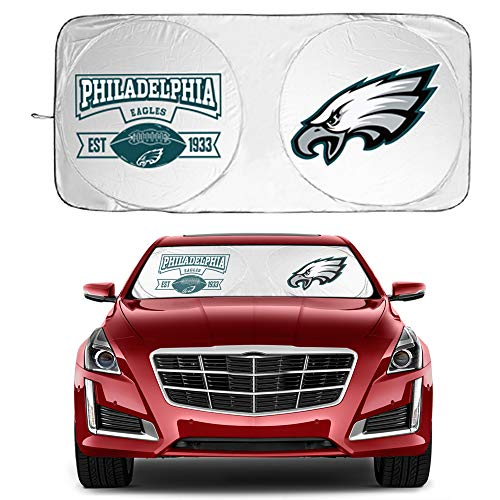 Car Sunshade for Eagles 210T Windshield General Medium and Large Vehicles Block The Strong Sunlight and Ultraviolet Rays, Keep The Car Cool Sun Visor Protection for SUVs (59.8X31.8'')