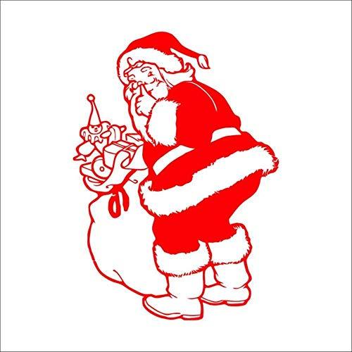 Dibujos animados de Santa Claus pegatinas de pared for tienda de bricolaje Ventana Festival de Navidad la decoración del hogar de la etiqueta del arte del vinilo estación de pared, zyva-Xmas68-n dljyy