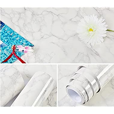 Abyssaly 24 X 79  Marble Contact Paper Granite Look Effect Contact Paper Decorative Self-Adhesive Film Marble Gloss Vinyl Film Contact Paper
