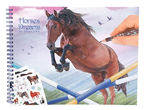 Depesche 10295 Libro para Colorear Horses Dreams, Multicolor