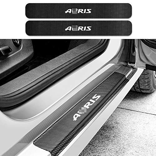 SLONGK Für Toyota Auris, 4PCS Autotürschwellenaufkleber Auto Carbon Fiber Protector Aufkleber Sport Styling Auto Auto Tuning Zubehör