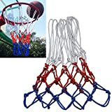 N / A Articles de Sport Durable Regular Edition Polyester Corde de Basket-Ball Cadre Net (Blanc Rouge Bleu) (Color : Color1)