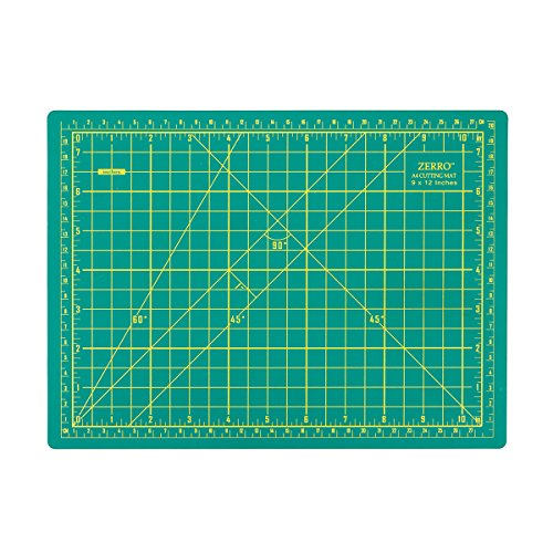 "ZERRO Self Healing Cutting Double Sided 5-Ply Rotary Mat 9"" x 12""(A4)"