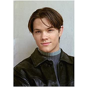 Gilmore Girls 8 x 10 Photo Jared Padalecki/Dean Forester VERY Young! Black Leather Jacket Over Blue Sweater Pose 1 kn