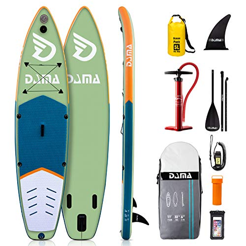 DAMA Inflatable Stand Up Paddle Board 11'x32 x6, Inflatable Yoga Board, Dry...